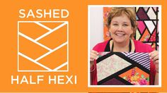 Sashed Half Hexi Quilt