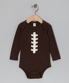 Take a look at this Brown Football Bodysuit - Infant by Rhinestone Fabuless on #zulily today!