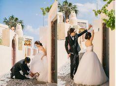 www.annaroussos.com Santorini wedding, santorini,  wedding in santorini, santorini wedding photographer, anna roussos, wedding photography, wedding in greece, bride, groom, wedding portraits, white dress, stylish groom, photoshooting in santoirni