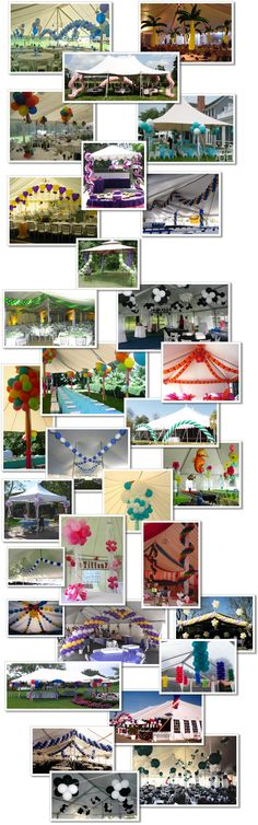 Outdoor Balloon Decor for Tents. Balloon Drop, Love Balloon, Balloon Ideas, Balloon Backdrop, Balloon Columns, Balloons Galore, Tents, Tent Canopy, Balloons And More
