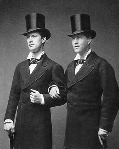 Items similar to Male Victorians Two Dapper Men Edwardian Victorian Top Hats Well Dressed Same Sex Couple Gay Vintage Wedding Card Photography Photo Print on Etsy Look Vintage, Vintage Men, Vintage Sailor, Vintage Clothing, Vintage Pictures, Vintage Images, Moda Do Momento, Looks Dark, Non Plus Ultra