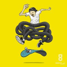 Illustration by dukenny #skate #fun #illustration