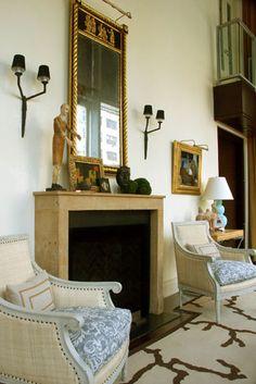 Eric Cohler: Fireplace, Living Family Room.