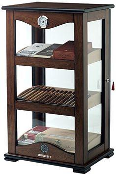 Humidor Schrank Mit Hygrometer Für Ca. 100 Zigarren, Zigarren Zubehör    Braun: