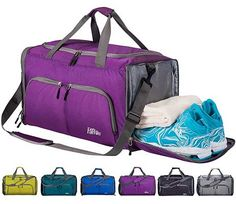 5dc204a6611e FANCYOUT Foldable Sports Gym Bag Shoes Compartment and Wet Pocket Best Gym
