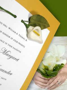 Getting My Calla Lily Invitations Ready To Send Replaced The