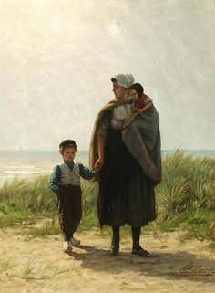 Dutch peasants - Philip Sadée 1837-1904