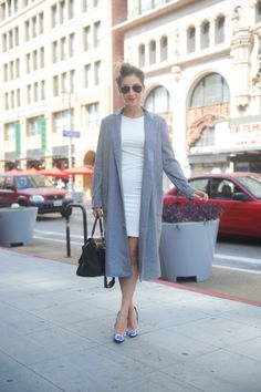 Ray-Ban Aviators, Cupcakes and Cashmere Coat, Enza Costa Dress, Elyse Walker Tie Dye Pumps, Celine Bag, Makeup Forever Lipstick in