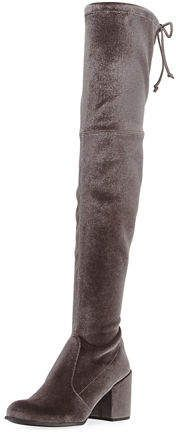 b526d7b81b9 Stuart Weitzman Tieland Velvet Over-the-Knee Boot - ShopStyle