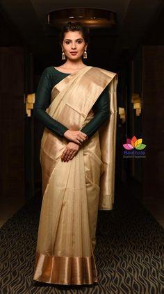 Gold Silk Saree, Chanderi Silk Saree, Organza Saree, Silk Sarees, Chikankari Suits, Cotton Saree, Indian Sarees, South Indian Wedding Saree, Saree Wedding