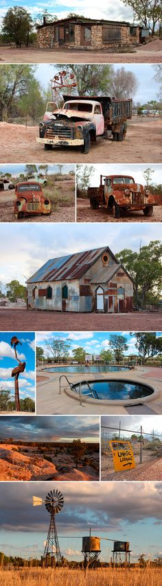 Lightning Ridge, NSW, Australia Rough scenery webbed with dreams of untold riches from opal mining. Beautiful bore baths to soak in. #lightningridge #borebath