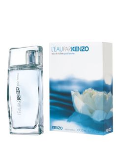 Eau de Toilette Kenzo Parfum L´Eau Par Kenzo Femme - essência refrescante floral aquática inspirada na pureza da água. Traz notas de flor de lótus, menta e pimenta-rosa. Aroma suave para o dia a dia.