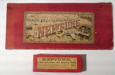 The New Geographical Game of Neptune - Vintage Board Game - Reason - Circa 1880 #ReasonMFGCoLtd