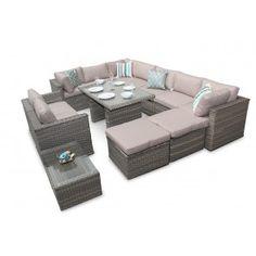 Rattan Sofa Dining Set Garden Furniture Outdoor Corner