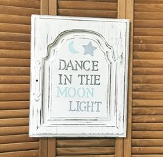 Dance in the Moonlight Cabinet Door Salvage Art by CottonwoodCove on Etsy