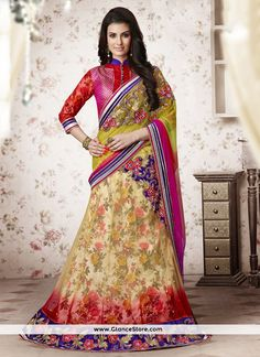 Elite Net A Line Lehenga Choli   For more information Visit at our website : www.glancestore.com Call Or Whatsapp us on +91 9904488333