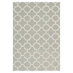 Trellis-inspired wool rug in grey. Handcrafted in India.   Product: RugConstruction Material: WoolColor: