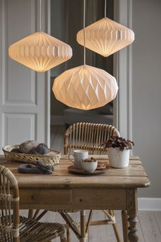 These are the first images of the latest Søstrene Grene collection - Roomed - Søstrene Grene launches a new hygge collection in 2020 – Roomed - Hygge, Home Goods Decor, Diy Home Decor, Origami Lampshade, Creative Kids Rooms, Chaise Vintage, Farmhouse Interior, The Office, Stoneware