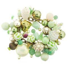 Dame Design - Brass Charm Bracelet - Kiwi Green Hues (1)