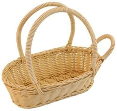 Wine Bottle Basket-Natural by Everware International. $12.99. Dishwasher AND microwave safe. BPA free. Hand woven. Durable polypropylene woven cord. FDA, SGS Lab and, LFGB (European test for food materials) certified. This hand woven wine bottle basket is a wonderful way of presenting classic wines. The handle at one of the ends fit on top of the bottle's neck and ensures that it does not move out of place or fall out of the basket while the long solid cord handles allow for ...