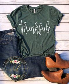 Thankful  Thankful Shirt  Thanksgiving T Shirt  Fall T Shirt  Womens Thanksgiving T Shirt - Inspirational T Shirts - Ideas of Inspirational T Shirts #inspirationalshirt #inspirationaltshirt -