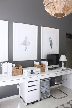 50 modern home office designs. A home office might not get a lot of non-work related use but just because you have to work in there doesn't' mean it can't have great style! Here are some home of. Mesa Home Office, Home Office Space, Home Office Desks, Home Office Furniture, Small Office, Bar Furniture, Family Office, Farmhouse Furniture, Wicker Furniture