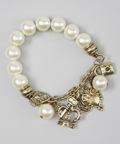 Love this Pearl Princess Stretch Bracelet by Spoiled & Sparkly on #zulily! #zulilyfinds