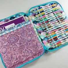 Creative Maker Supply Cases - Sew Sweetness Art or craft supply zippered case sewing pattern Sewing Tools, Sewing Tutorials, Sewing Crafts, Sewing Projects, Sewing Patterns, Bag Patterns, Crochet Tools, Knit Or Crochet, Finding A Hobby