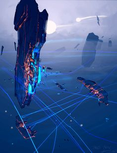 """x-xavier-x: """" Homeworld was one of the most beautiful video game series ever made. This art by Rob Cunningham """""""