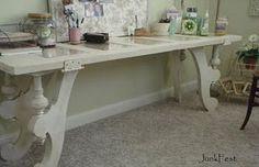 Old door desk/craft table for me :)