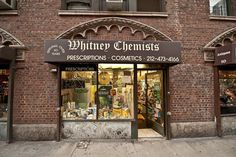 Here's something you won't find at Duane Reade or Rite-Aid: an old-fashioned pharmacy scale. This relic of old New York's neighborhood drugstores can be found just inside the entr…