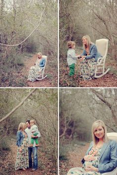 Love the setting and feel of this photo shoot // Outdoor Family Maternity Photos