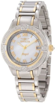 Invicta Women's 12805 Angel Mother-Of-Pearl Dial Diamond Accented Watch Invicta,http://www.amazon.com/dp/B00962GYO4/ref=cm_sw_r_pi_dp_.4L8sb19NNF1MB35
