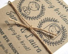 Country Couple - Personalised Illustrated Wedding Invitations