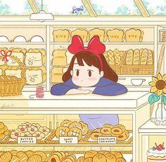 Aesthetic Art, Aesthetic Anime, Chibi, Studio Ghibli Art, Hayao Miyazaki, Cute Stickers, Cute Wallpapers, Cute Drawings, Cute Art