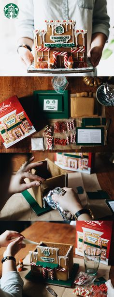 Getting the home ready for the holidays is both easy and creative with the Starbucks Gingerbread Café. The gingerbread walls, candy embellishments and snow frosting can be assembled to form the unique decorative piece in approximately one hour. A relaxing indoor activity that can be shared with the whole family, the kit is also versatile, so feel free to get creative and make it your own. And yes, most of the Gingerbread Café is edible. Available online as well as in Starbucks stores.