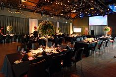 Botanic style tall centrepieces for a gala event at The Cargo Hall, South Wharf | Bouquet Melbourne