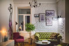 Дизайнерский интерьер квартиры площадью 42 кв. м.