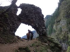 The Rock of Ages in Oregon's Columbia River Gorge.  This epic hike is more of a bushwacking scramble up the steep walls of the Gorge to an incredible natural arch with an awesome view.  Wanna do this hike? Check out http://www.muddycamper.com/hikes/rock-of-ages-hike/ for details.