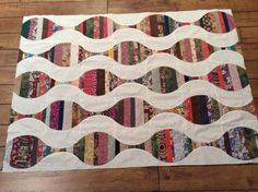 String Pieced Hourglass Scrap Buster from my Craftsy Clever Curves class. Scrap Busters, String Quilts, Scrappy Quilts, Hourglass, Quilt Making, Quilting Projects, How To Plan, How To Make, Clever