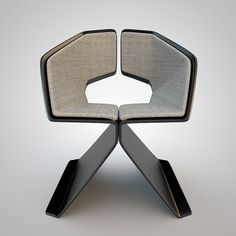 r2-r Smart Furniture, Funky Furniture, Handmade Furniture, Furniture Decor, Furniture Design, Sheet Metal Art, Dining Arm Chair, Club Chairs, Chair Design