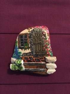 Entrance painted on stone!