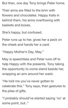 May Parker + Mother's Day - part 2/4