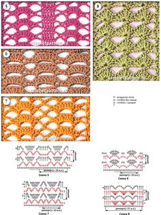 Page №02 with patterns for crocheting.