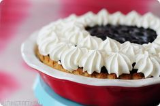 Sour Cream Blueberry Cream Pie  What pies are you making/buying for Thanksgiving this year!?! I have to admit, my mom always gives me the assignment to bring piesto Thanksgiving each year, and I usually buy them at Costco. Yep. I'm THAT person.