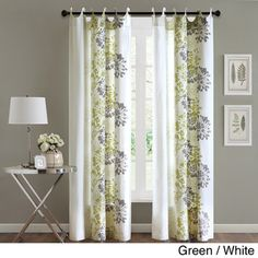 Madison Park Adria Cotton 84-inch Curtain Panel | Overstock.com Shopping - The Best Deals on Curtains