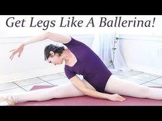 Get Legs Like A Ballerina! Beginners Ballet 4 - At Home Leg & thigh Workout Floor Exercises! - YouTube