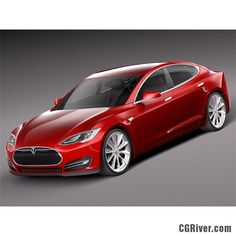 Tesla S 2013 - 3D Model