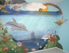 Muurschildering Onderwaterwereld