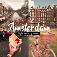 Amsterdam Lightroom Preset (Mobile + Desktop) | Travel Preset | Aesthetic Preset | Cute Preset by artstuffbyiz on Etsy Lightroom Presets, Amsterdam, Desktop, Cute, Etsy, Travel, Inspiration, Voyage, Trips